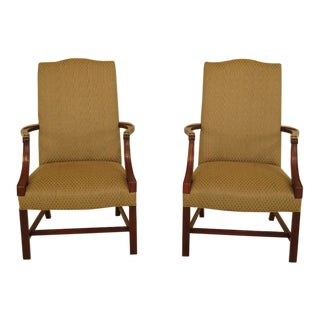 Vintage Southwood Mahogany Armchairs - A Pair For Sale