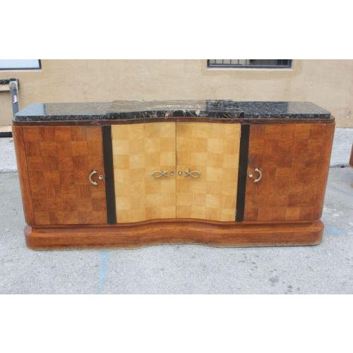 French Art Deco Palisander and Sycamore Buffet / Sideboard By Tricoire Circa 1930s - Image 4 of 11
