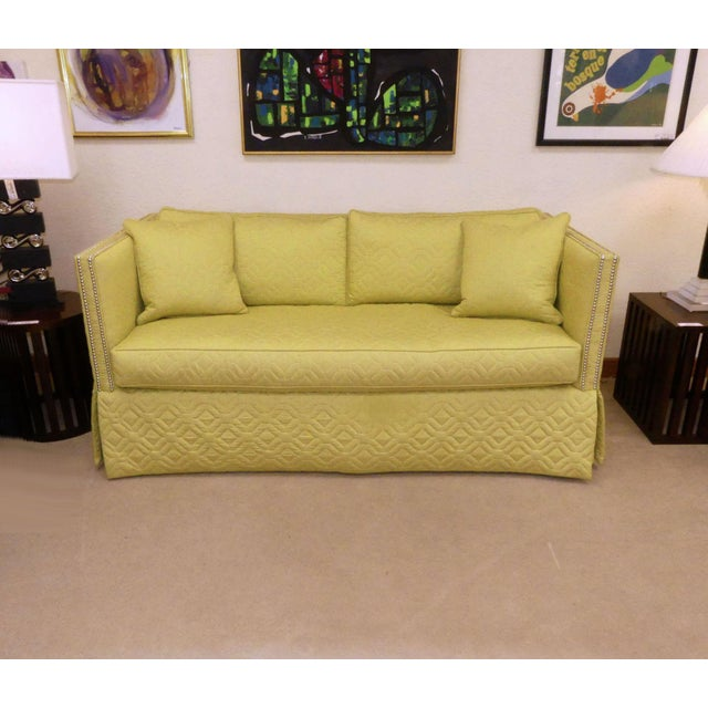 """Encore Furniture Gallery presents the Blaine 71"""" sofa by Wesley Hall. Features a straight back which is continuous to..."""