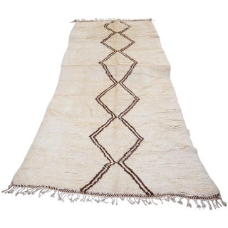 Beni Ourain Carpet From the Atlas Mountains of Morocco, 1950s For Sale