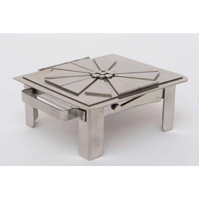 Silver Stanley Szwarc Sculptural Stainless Steel Hinged Box For Sale - Image 8 of 11