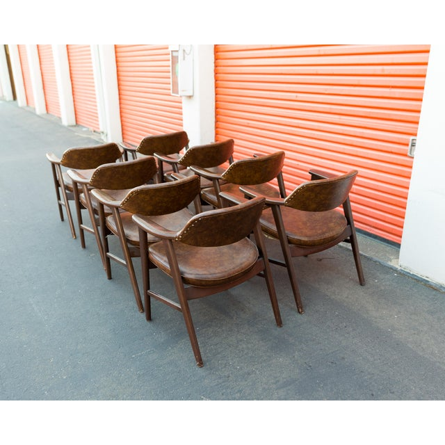 Mid Century Modern Paoli Walnut Armchairs - Set of 8 For Sale - Image 5 of 11