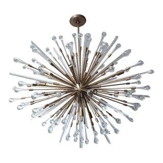 Custom Teardrop Sputnik in Antique Brass For Sale