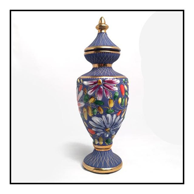 Vintage Belgium porcelain vase by Hubert Bequet in Quaregnon, Belgian. Known for his colorful, high-quality ceramic pieces...