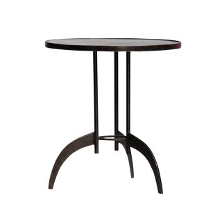 Modern Round Iron End Table For Sale