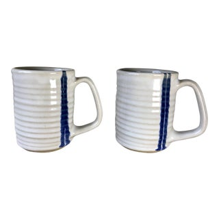 Vintage Studio Pottery Mugs - A Pair