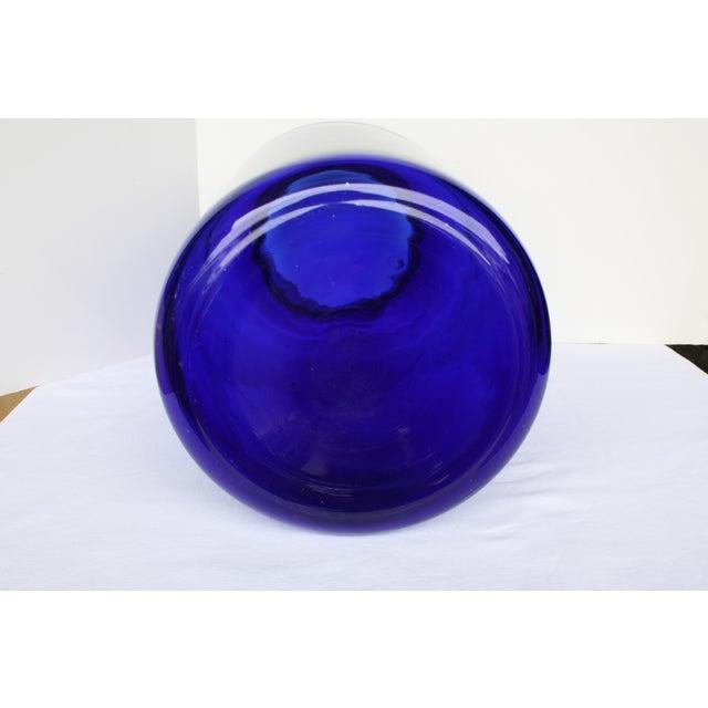 "European Cobalt Glass Pickling Jar 17"" - Image 5 of 5"