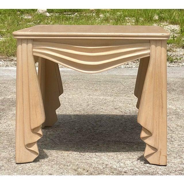 Vintage Regency Swag Draped Side Table For Sale - Image 9 of 9