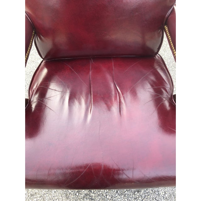 1990s 1990s Vintage Cabot Wrenn Executive Style Leather Swivel Chair For Sale - Image 5 of 13