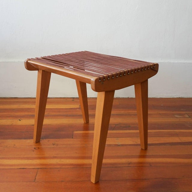 Mid-Century Modern String Stool by Robert J Ellenberger for Calfab, 1950s For Sale - Image 3 of 9
