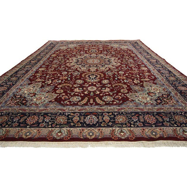 Asian 20th Century Chinese Persian Style Mashhad Area Rug - 8′9″ × 11′8″ For Sale - Image 3 of 4