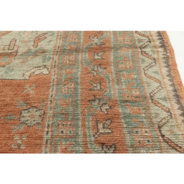 Antique Turkish Oushak Rug For Sale In New York - Image 6 of 9