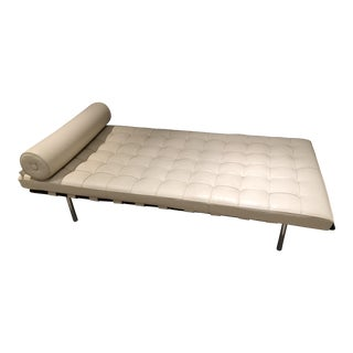 Barcelona Style Daybed Cream Leather