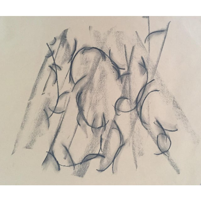 Abstract Mount, an Original Charcoal Drawing by Erik Sulander 22 X 24 Unframed For Sale - Image 3 of 3