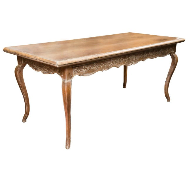 French Provincial Style Distressed Dining Table For Sale