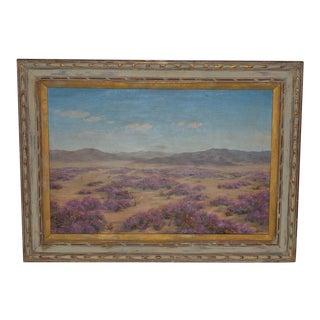 "Robert Weeks ""Desert Verbana"" Original Oil Painting C.1950s For Sale"