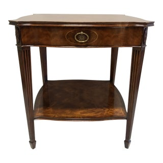 MAITLAND SMITH for Colony Furniture Aged Mahogany Inlaid Regency End Accent Table 2