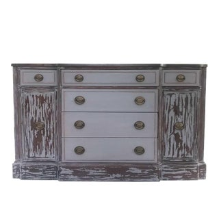 Duncan Phyfe Shabby Chic Buffet / Entertainment Console For Sale