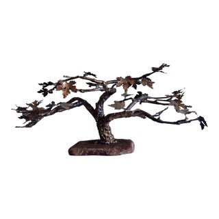 P. Marshall Bronze Tree Sculpture for Bovano of Cheshire Conn. For Sale