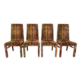 1970's Vintage Postmodern Dining Chairs - Set of 4 For Sale