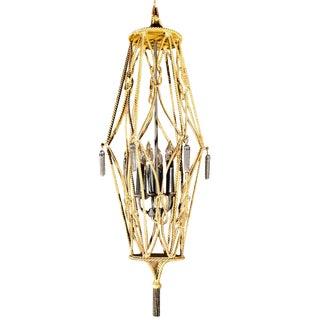 1960s Vintage Gilt Rope Lantern For Sale