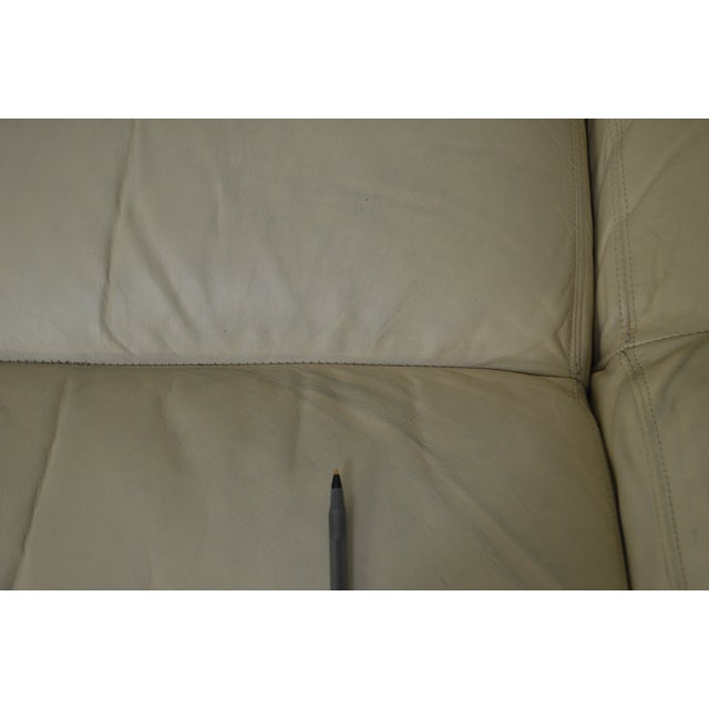 Hancock & Moore Off White Leather Sofa For Sale - Image 12 of 13
