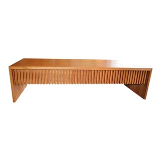 Mid-Century Modern Japanese Oak Solid Wood Coffee Table TV Media Cabinet Console Sideboard