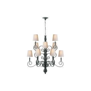 Visual Comfort Iron Scroll Chandelier For Sale