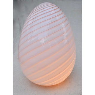Vetri Murano Glass Swirling Egg Lamp Preview