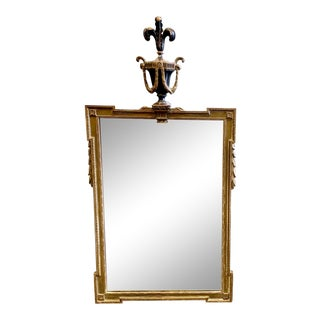 1940s Continental Wooden Prince of Wales Mirror For Sale