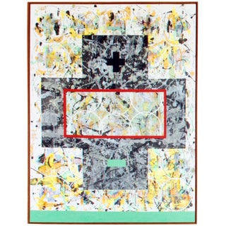 """Contemporary Original Abstract Painting on Canvas """"Plus Minus No. 7"""" by Aric Frons For Sale"""