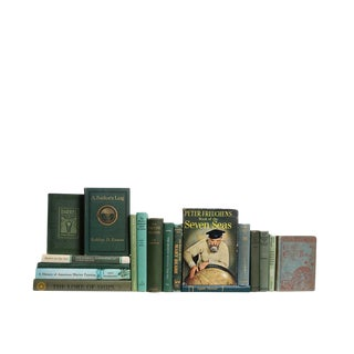 The Emerald Seas : Set of Eighteen Decorative Books For Sale
