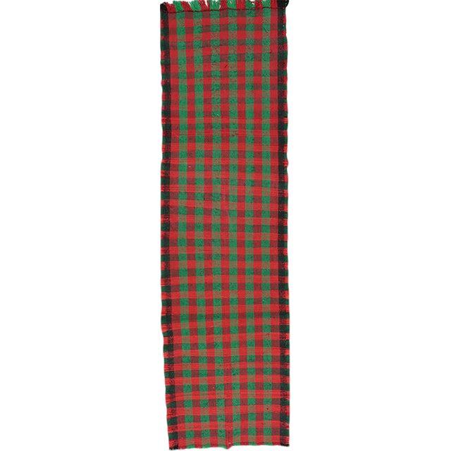 """Handwoven Kilim Runner Rug 2'8""""x10' For Sale"""