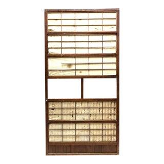 Japanese Sugi Lattice Door For Sale