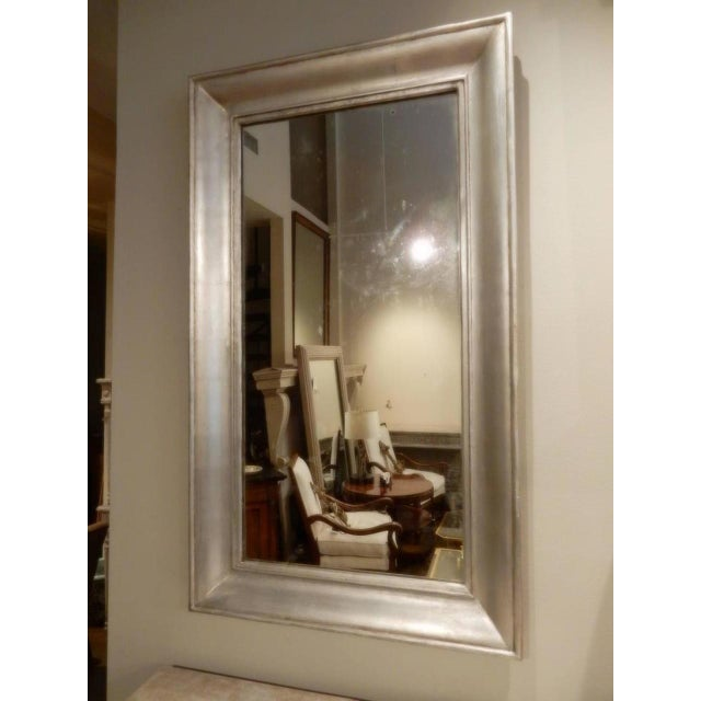 French 19th Century French Silver Mirror For Sale - Image 3 of 8