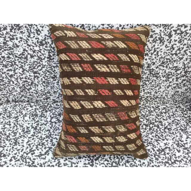 Turkish Kilim Pillow Cover - Image 4 of 6