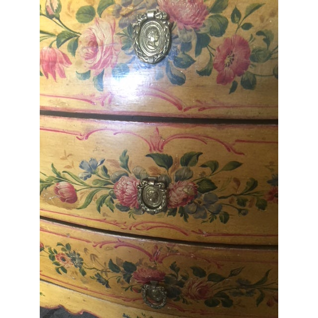Wood Late 19th Century Italian Painted Commode/ Slant Front Writing Desk For Sale - Image 7 of 13