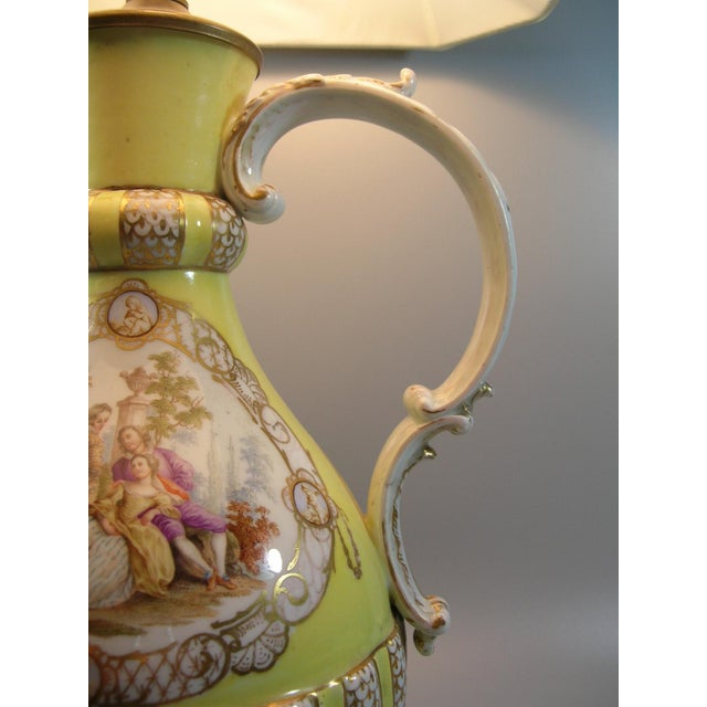 18th Century Meissen Porcelain Pitcher Mounted as Lamp For Sale - Image 9 of 13