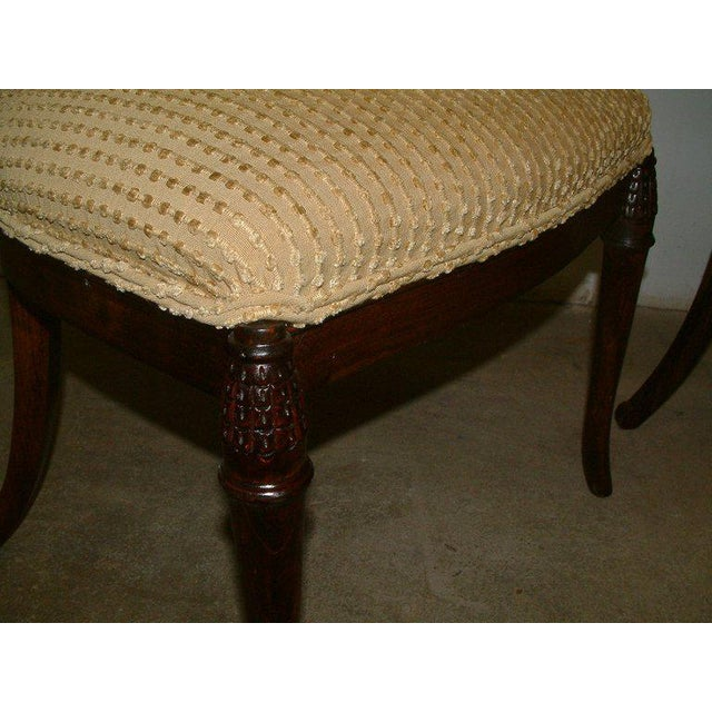 Fabric 1930s Beechwood Klismos Chairs - A Pair For Sale - Image 7 of 8