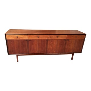 Milo Baughman for Arch Gordon Large Walnut Four Door Credenza For Sale