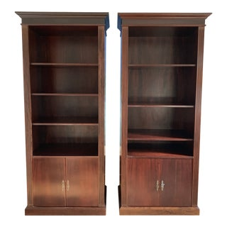English Colonial Wood Shelves - a Pair For Sale