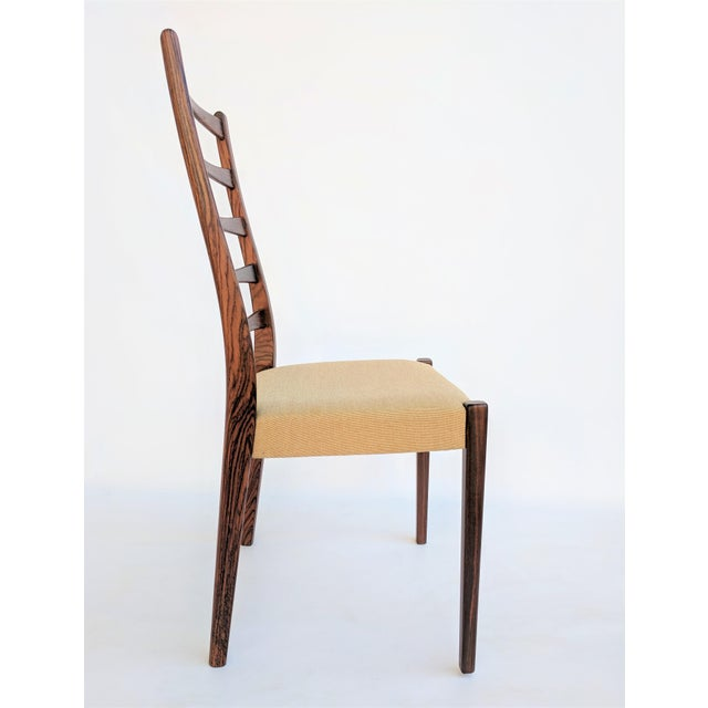 1960s 1960s Danish Modern Svegards Markaryd Rosewood Ladder Back Dining Chairs - Set of 4 For Sale - Image 5 of 13