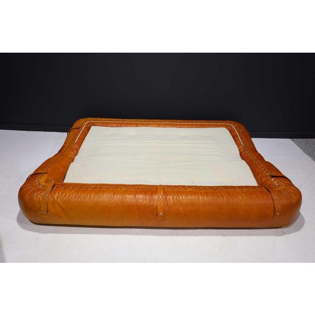 Alessandro Becchi Leather Anfibio Sofa Bed by Alessandro Becchi for Giovannetti Collezioni, 1970s For Sale - Image 4 of 13