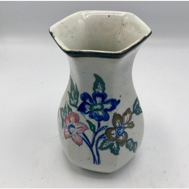 Edo Period Japanese Stoneware Vase For Sale - Image 4 of 7