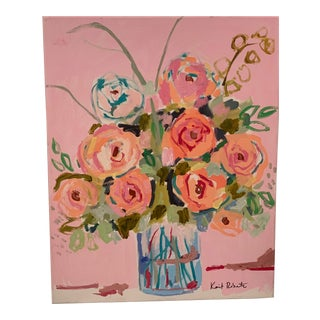 Kait Roberts Acrylic Floral Painting For Sale