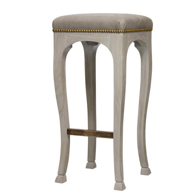 "Truex American Furniture ""Golden Gate Bar Stool"" - Image 1 of 4"