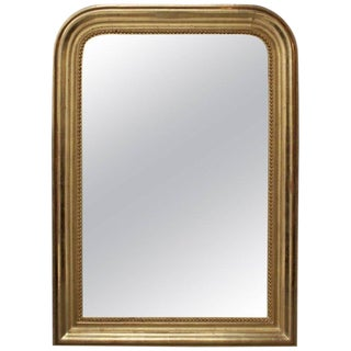 Early 19th Century Antique French Gilt Louis Philippe Mirror For Sale