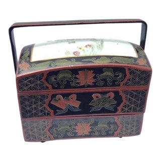 20th Century Chinese Lacquer Stacked Box For Sale