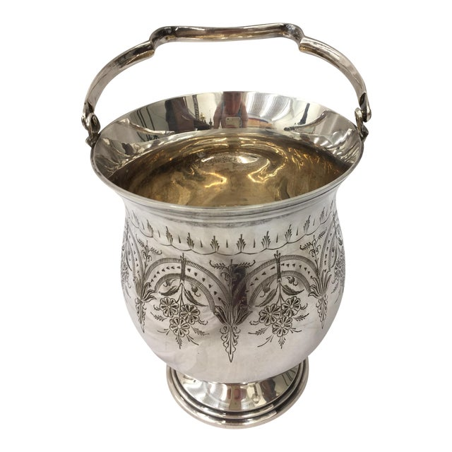 Antique Etched Silver Vase - Image 1 of 10
