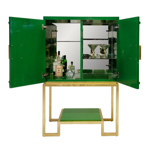 Emerald Green Lacquer Cabinet - Image 3 of 3